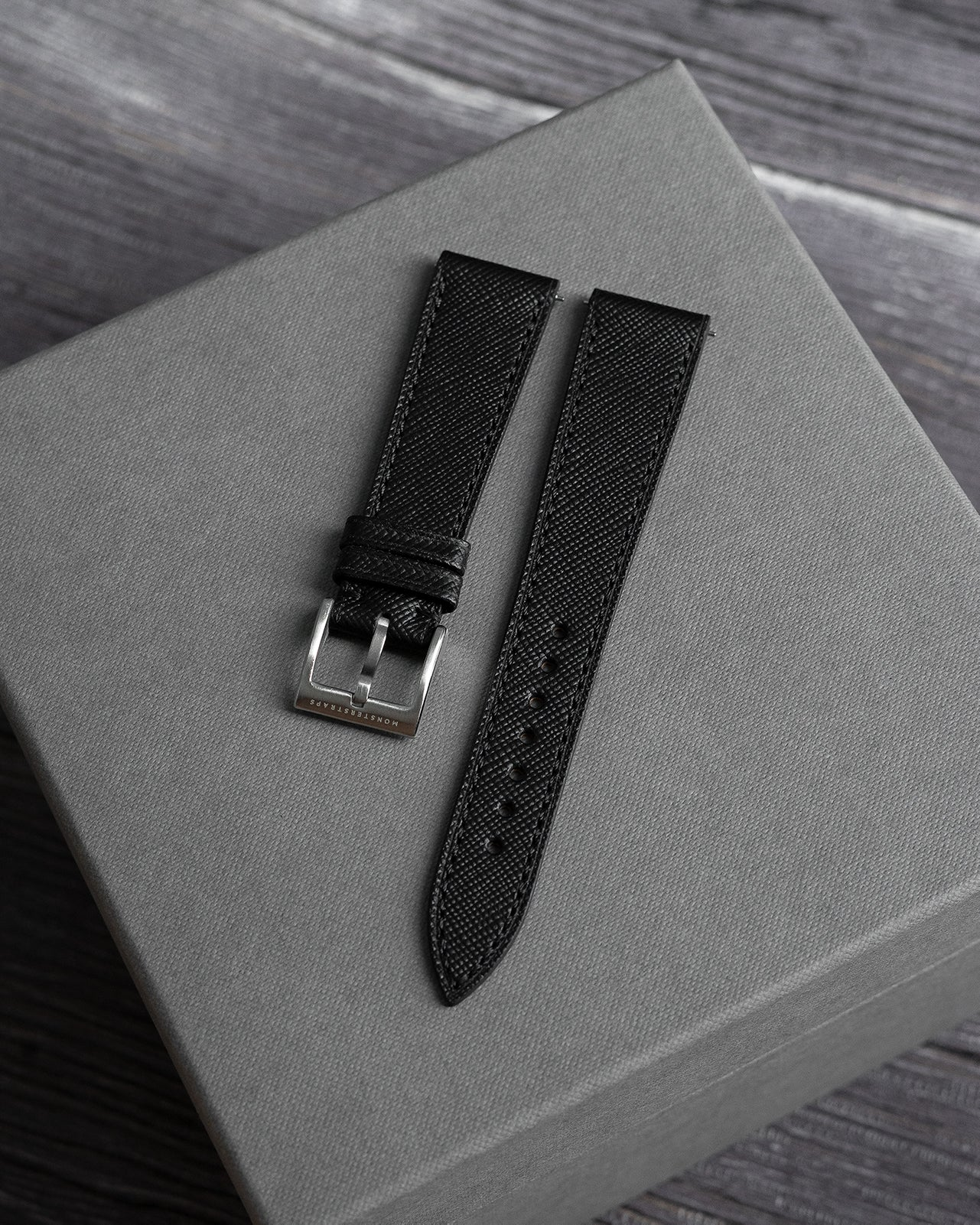 Saffiano Leather Strap (Black)