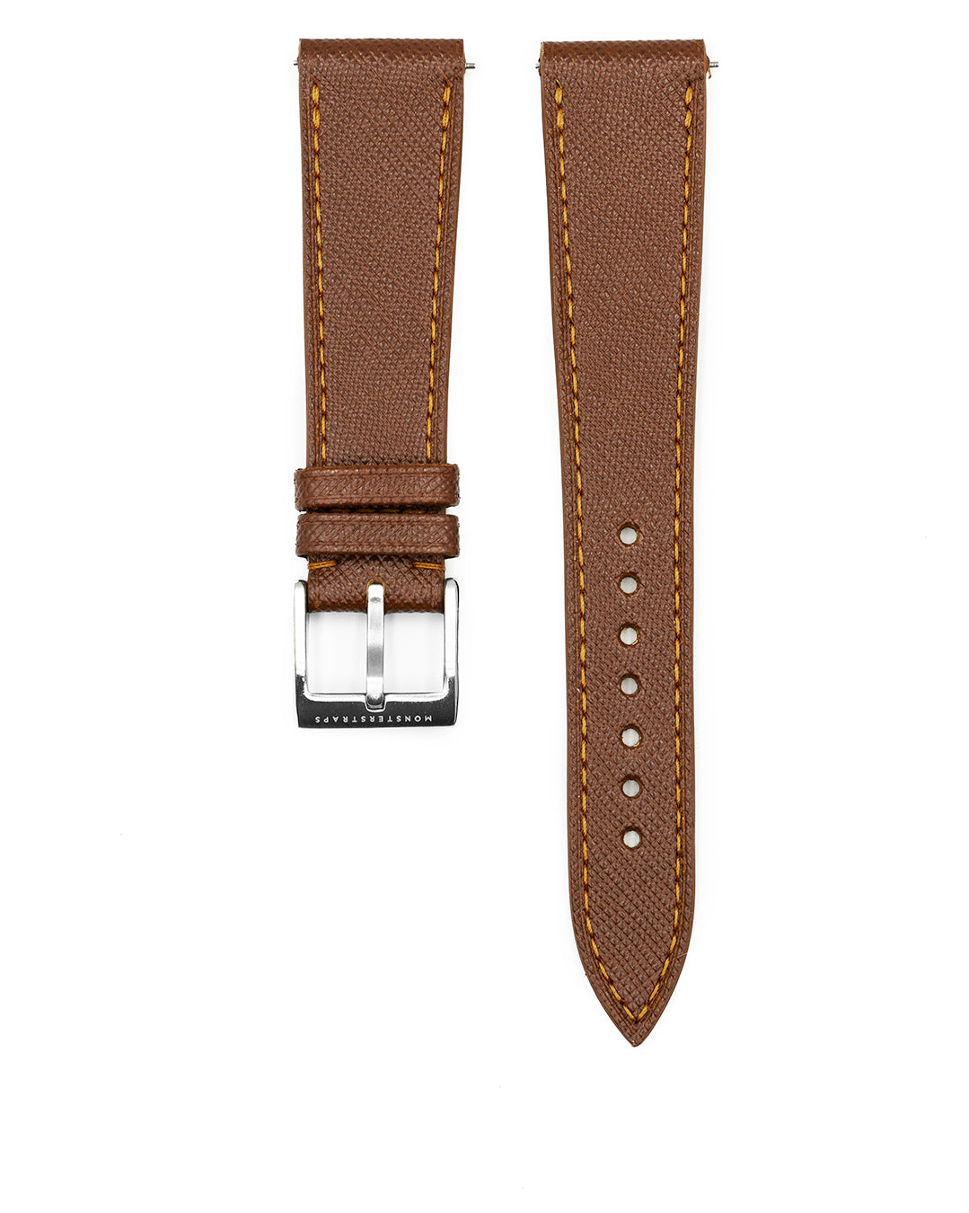 Saffiano Leather Strap (Brown)