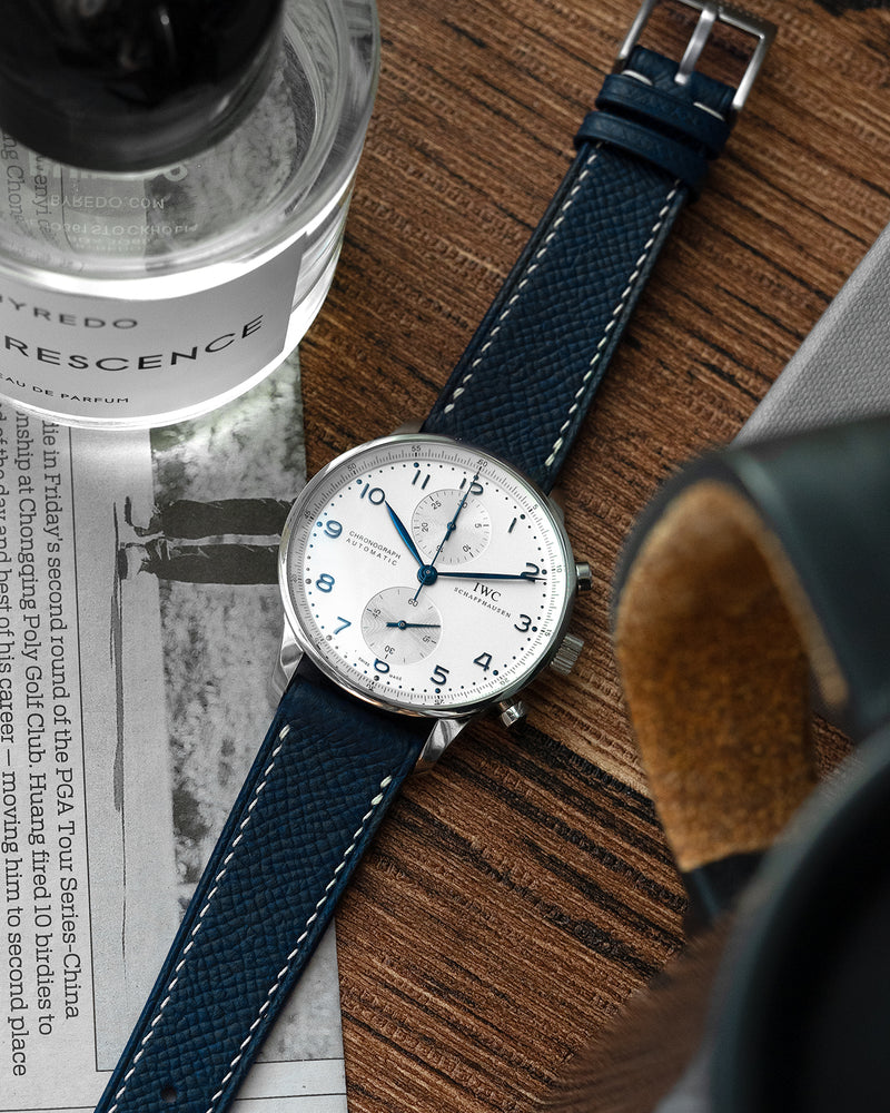Epsom Leather Strap (Midnight Blue)