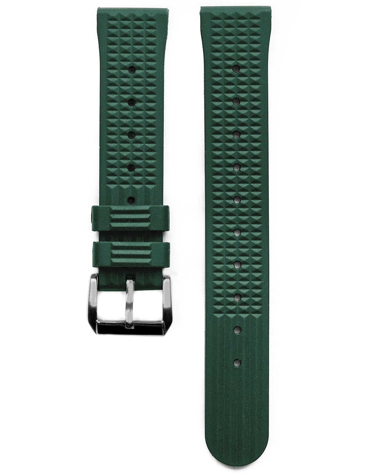 VULCANISED RUBBER - WAFFLE STRAP (GREEN, VINTAGE STYLE)