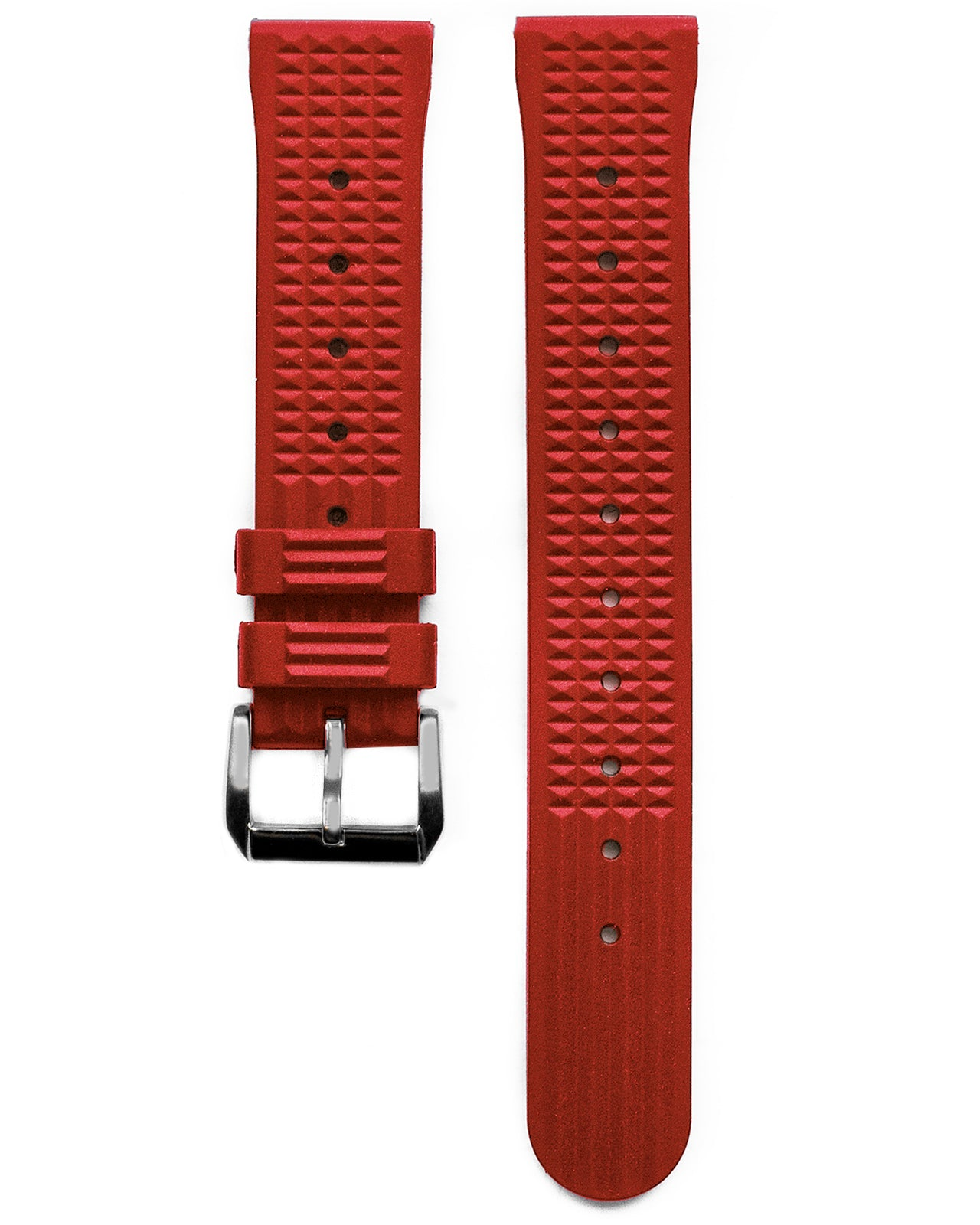 VULCANISED RUBBER - WAFFLE STRAP (RED, VINTAGE STYLE)