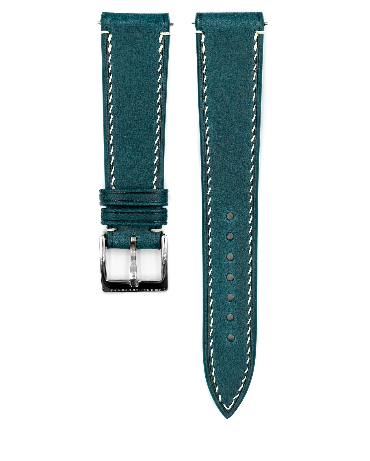 Vintage Italian Waxed Leather Strap (Turquoise)