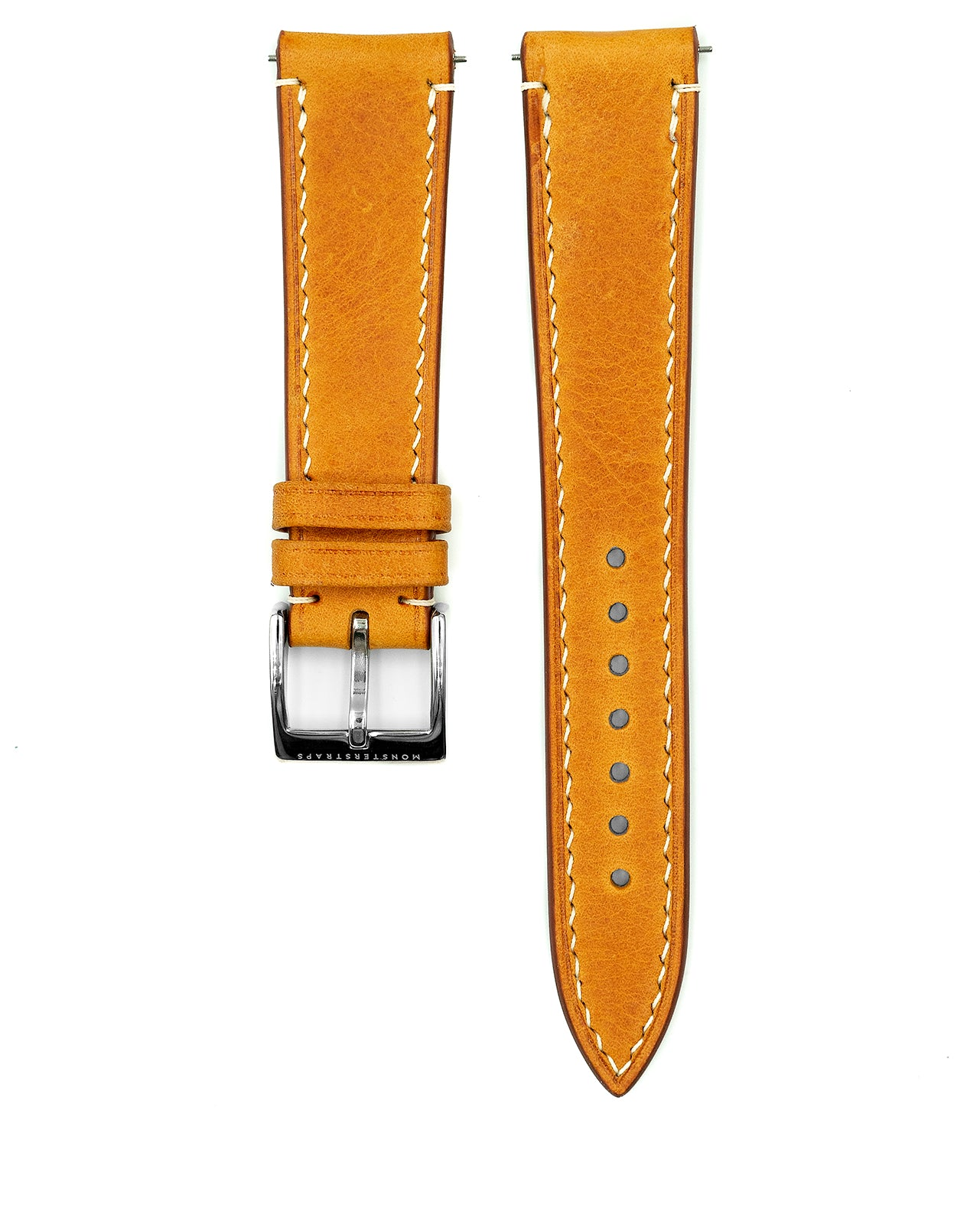 Vintage Italian Waxed Leather Strap (Honey Brown)