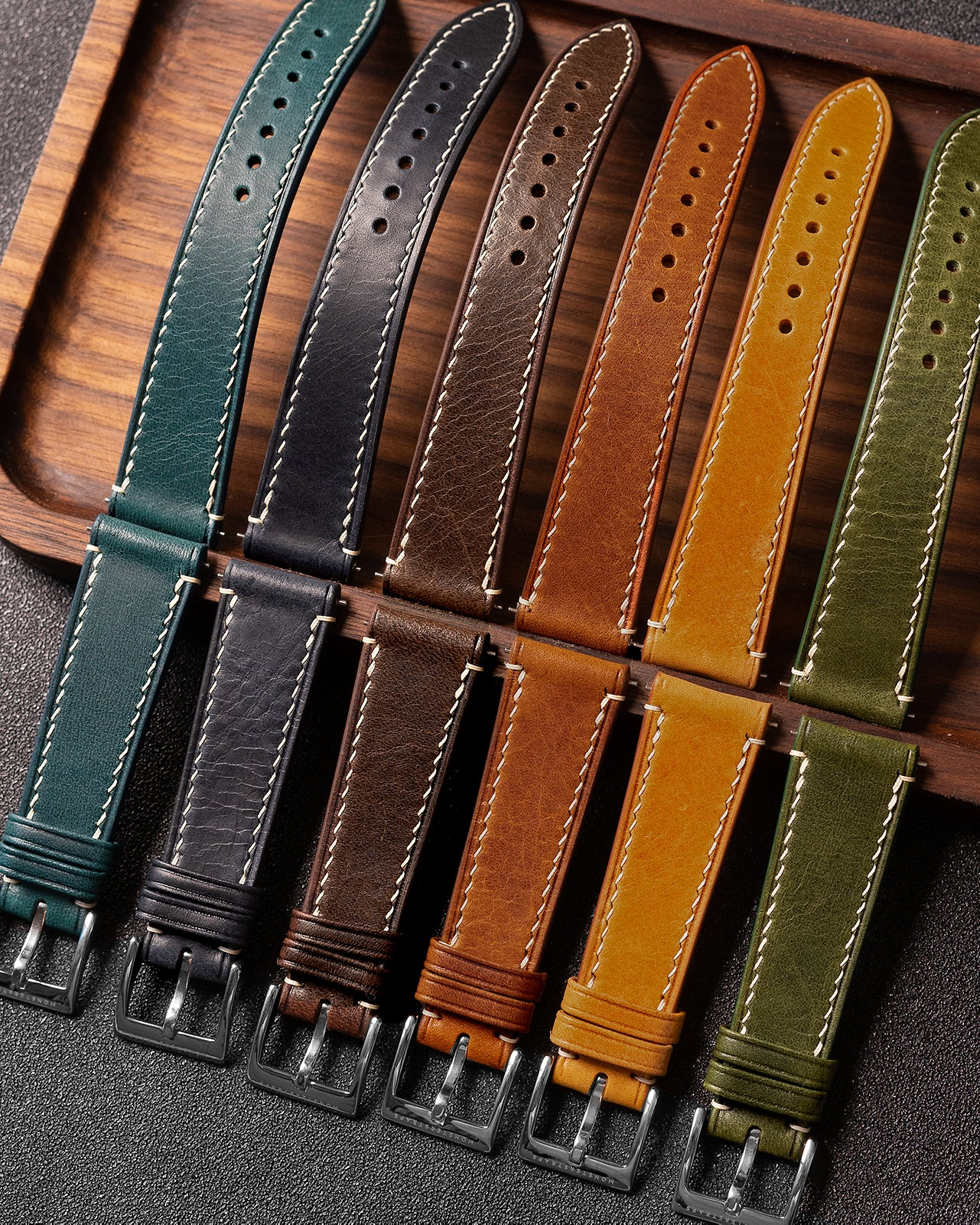 Custom - Vintage Italian Waxed Leather Strap
