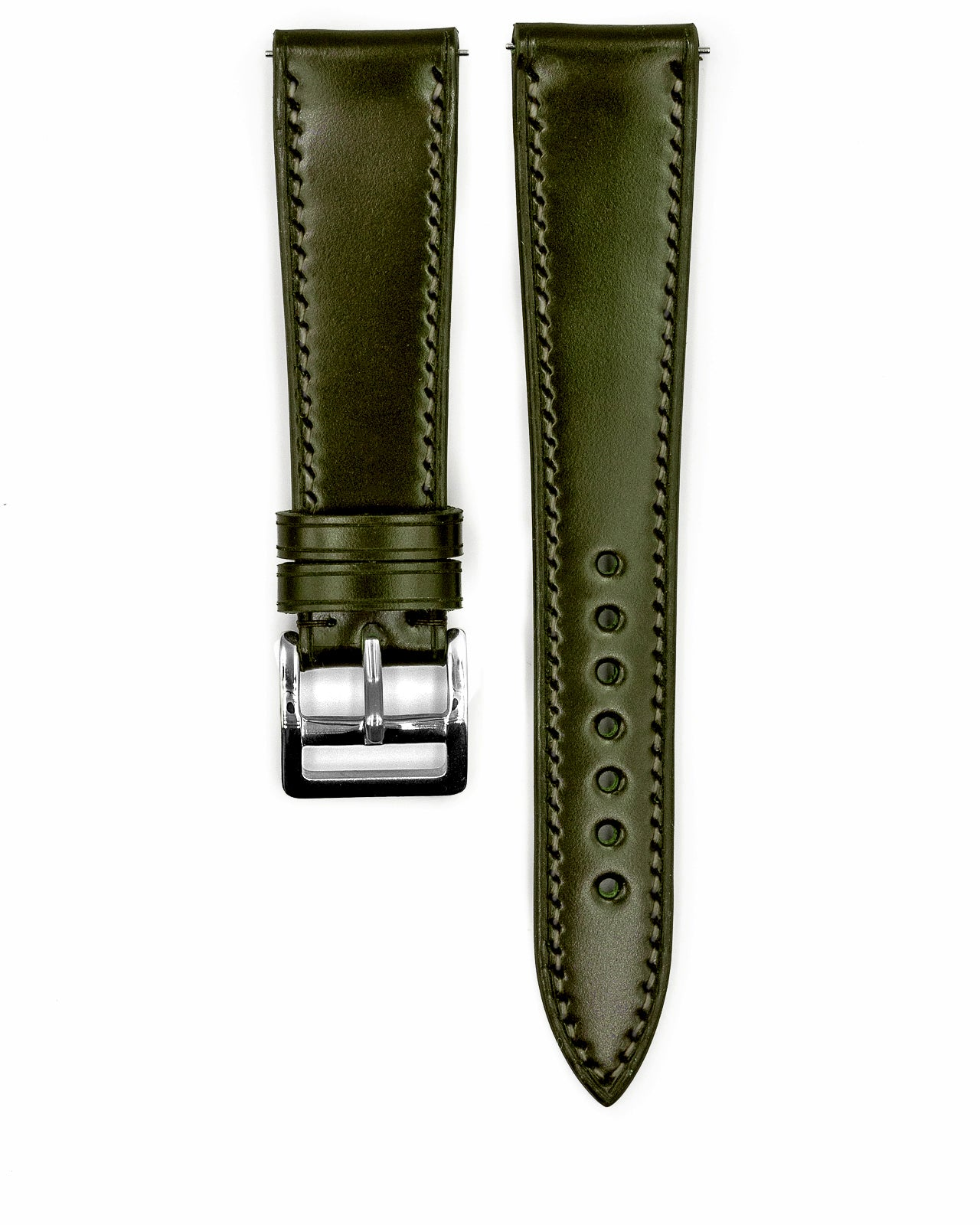 Shell Cordovan Strap (Olive Green)