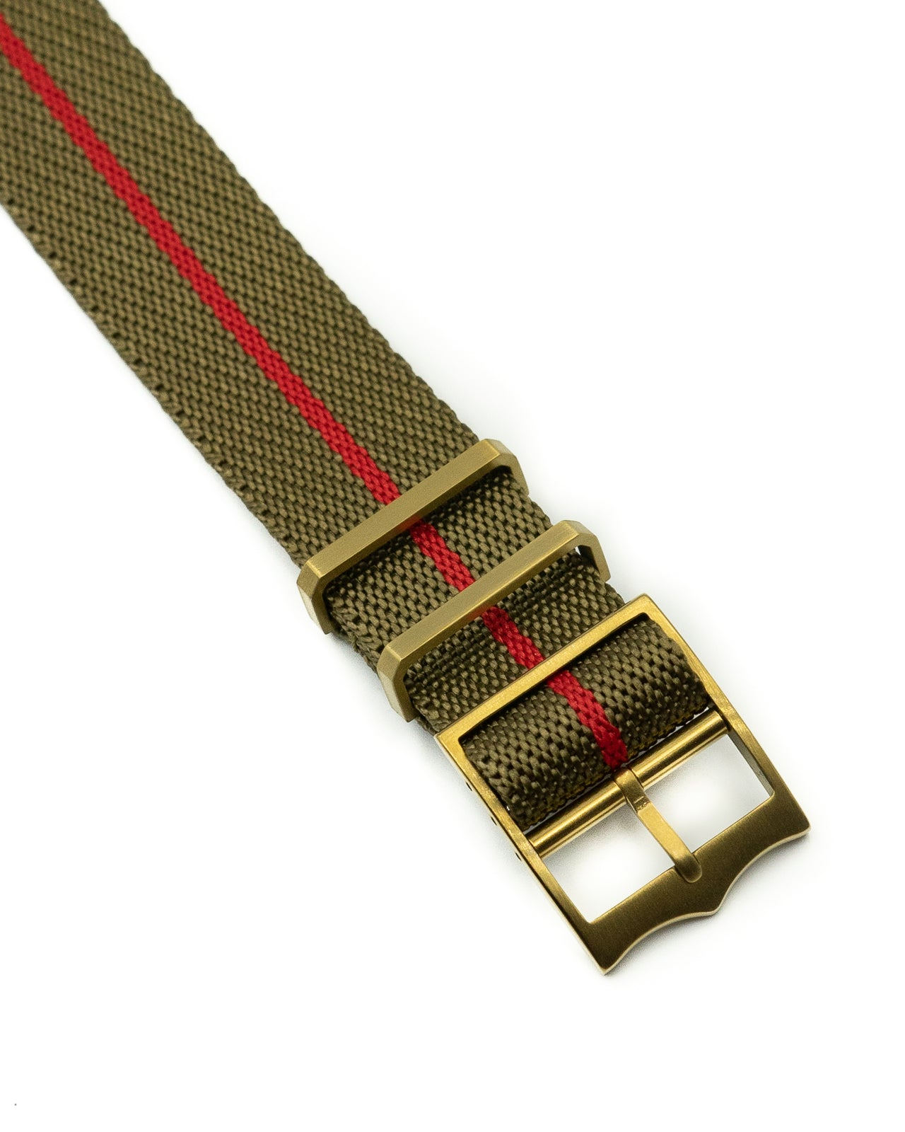 Blackbay Adjustable II (Bronze) - Olive with Red Centerline
