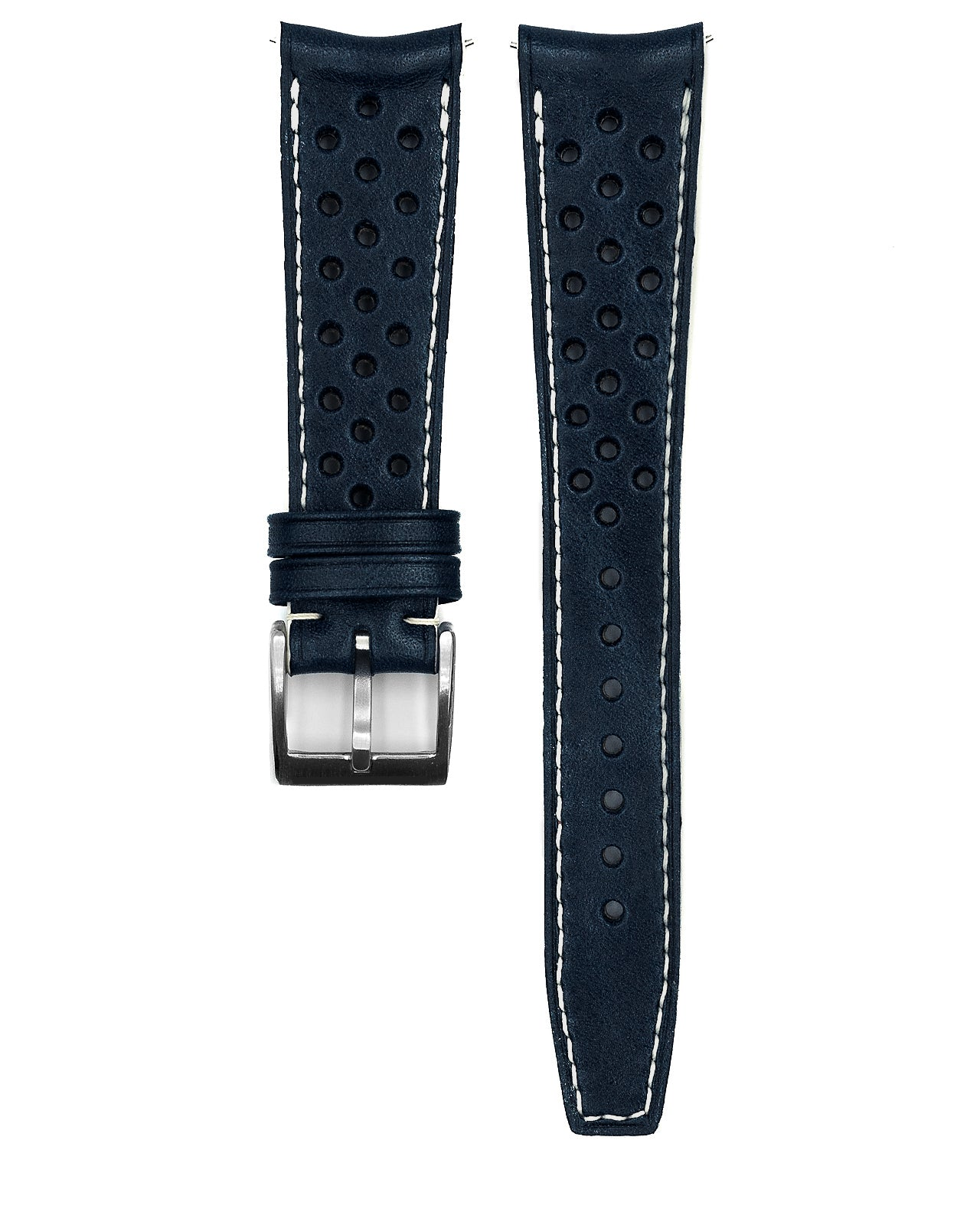 Rally Leather Strap (Midnight Blue)