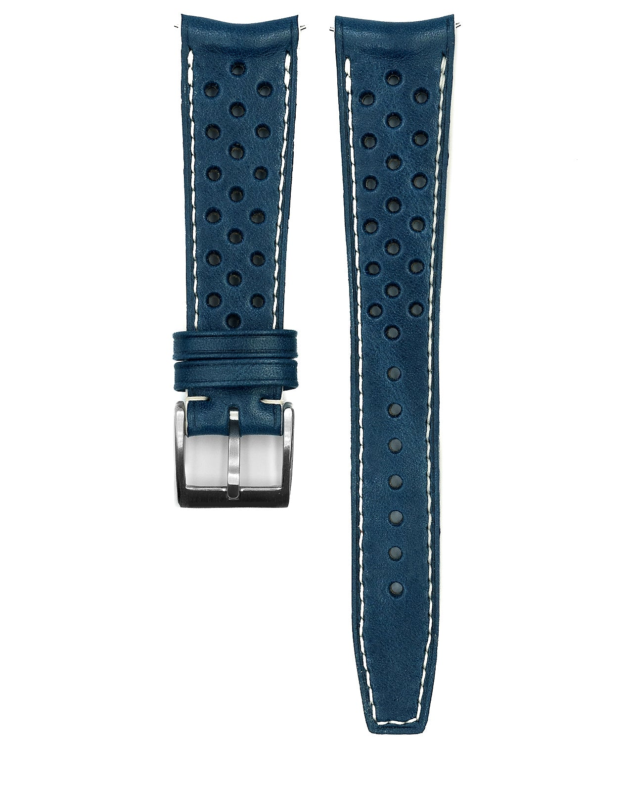 Rally Leather Strap (Blue)