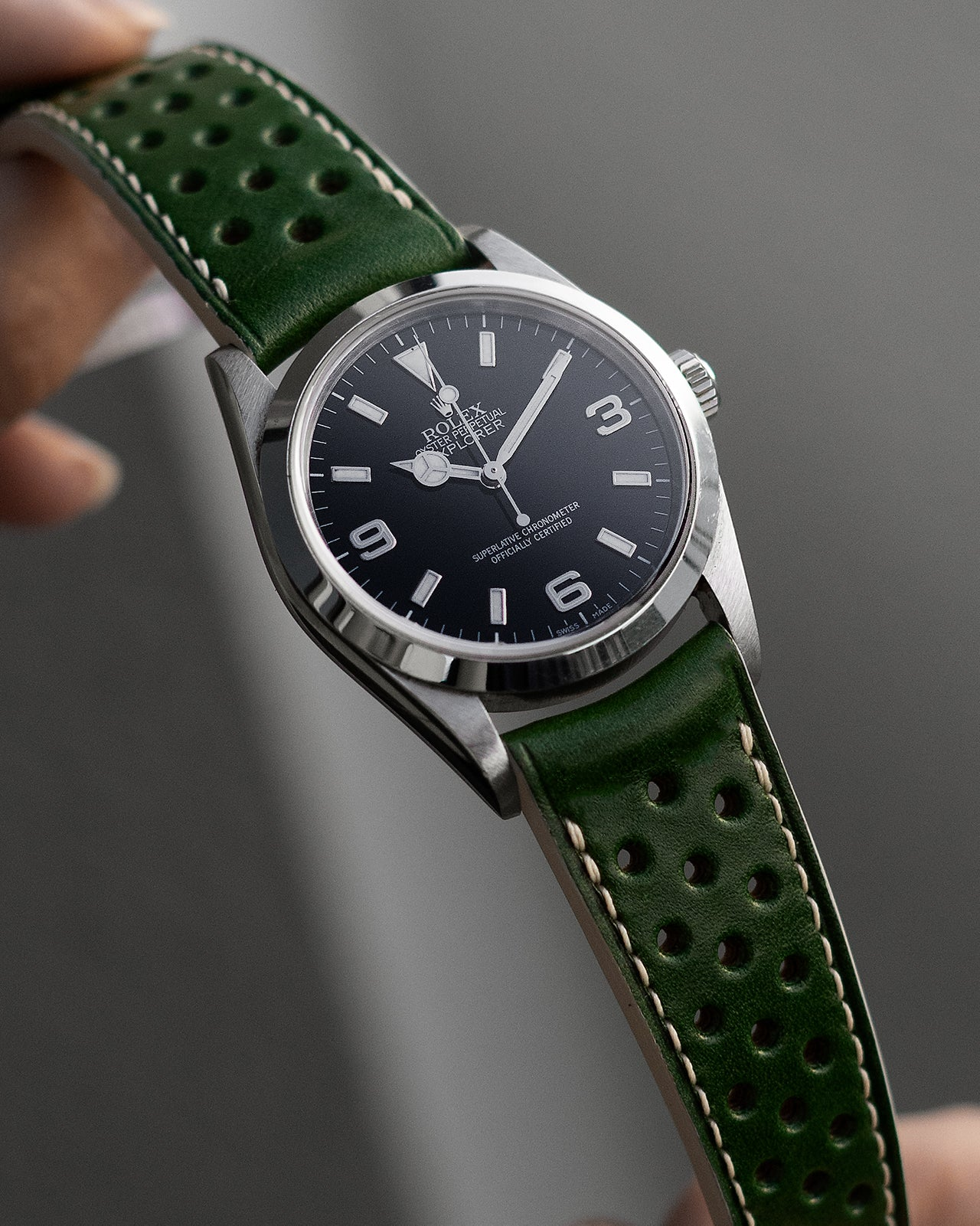 Rally Leather Strap (Racing Green)