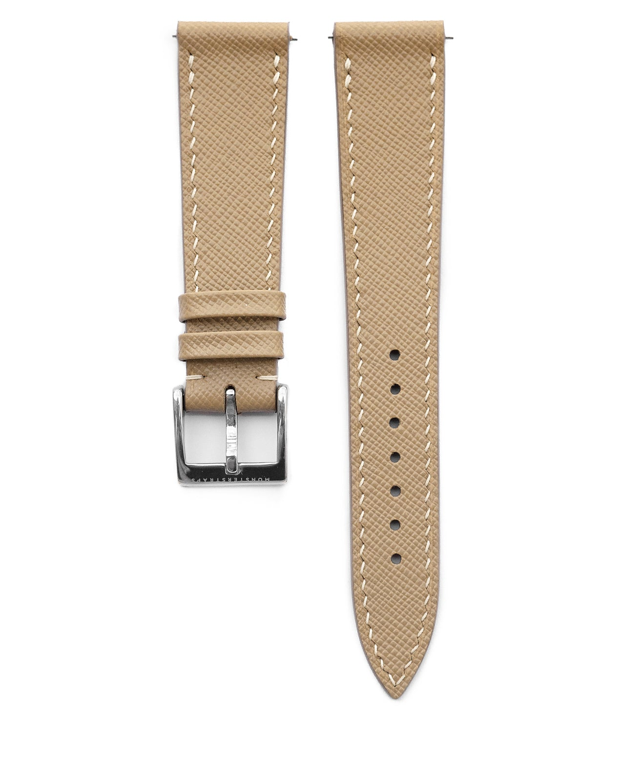 Saffiano Leather Strap (Ivory)