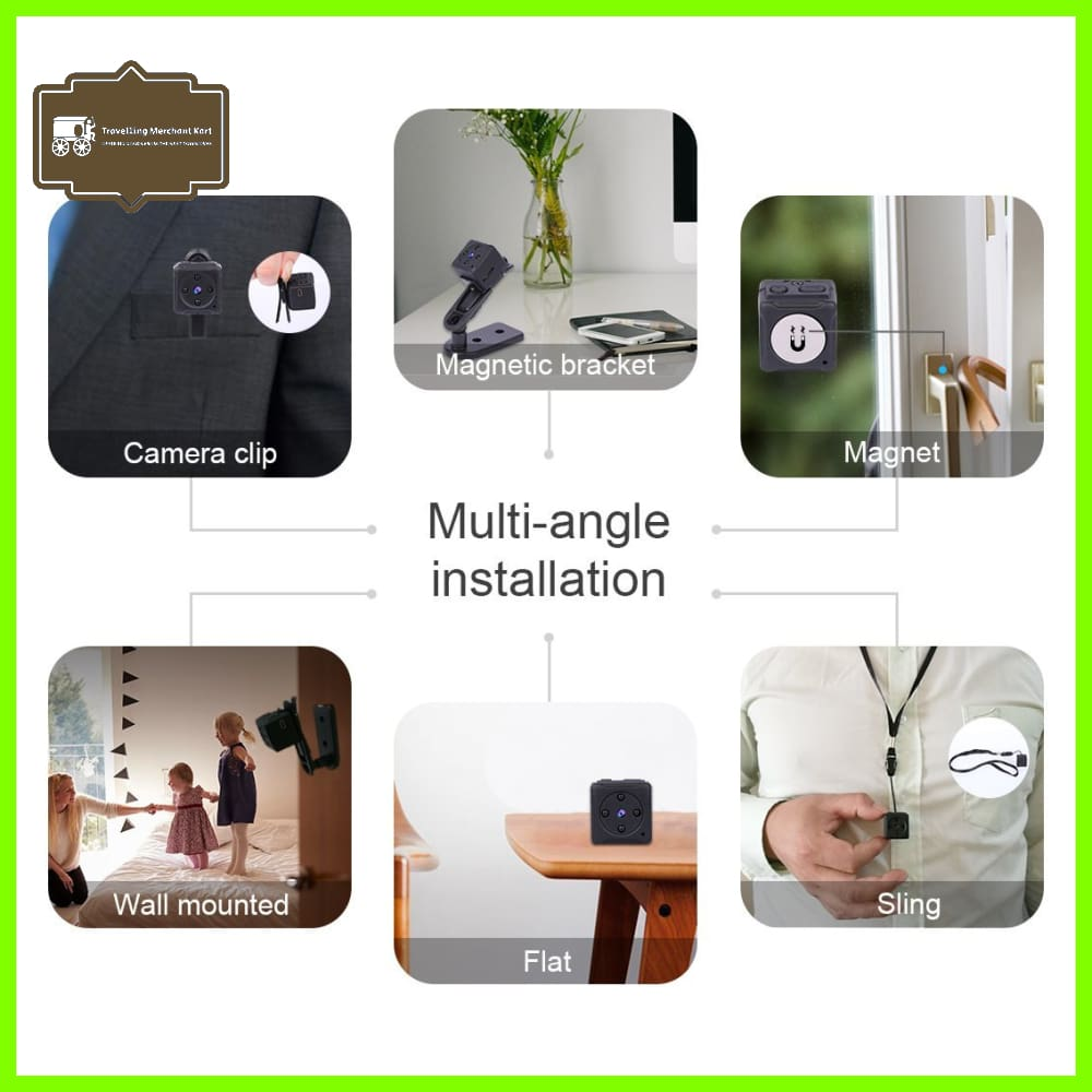 Travelling Merchant Kart Mini Spy Hidden Camera Niyps 1080p Portable Small Hd Nanny Cam With Night