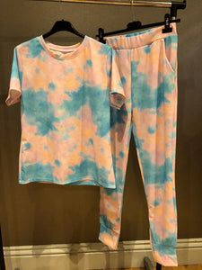 Mia Lounge Set - Sky Blue Tie Dye