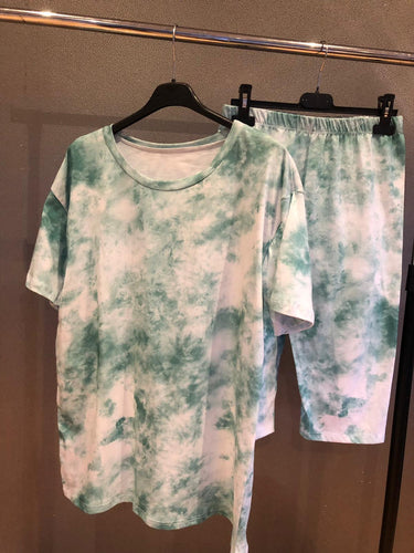 Britany Tye Dye Set - Green