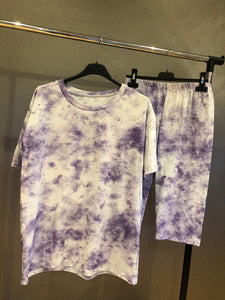 Britany Tye Dye Set - Purple
