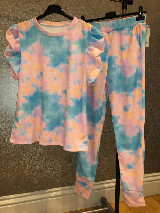 Addison Tye Dye Set - Blue & Pink