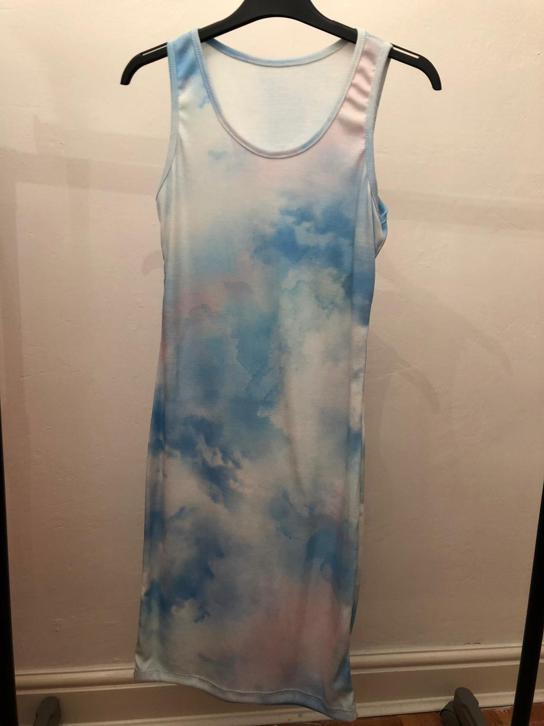 Phoebe Tie Dye  Vest Dress - Blue