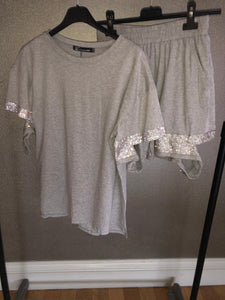 Kim Tshirt & Shorts Set - Grey