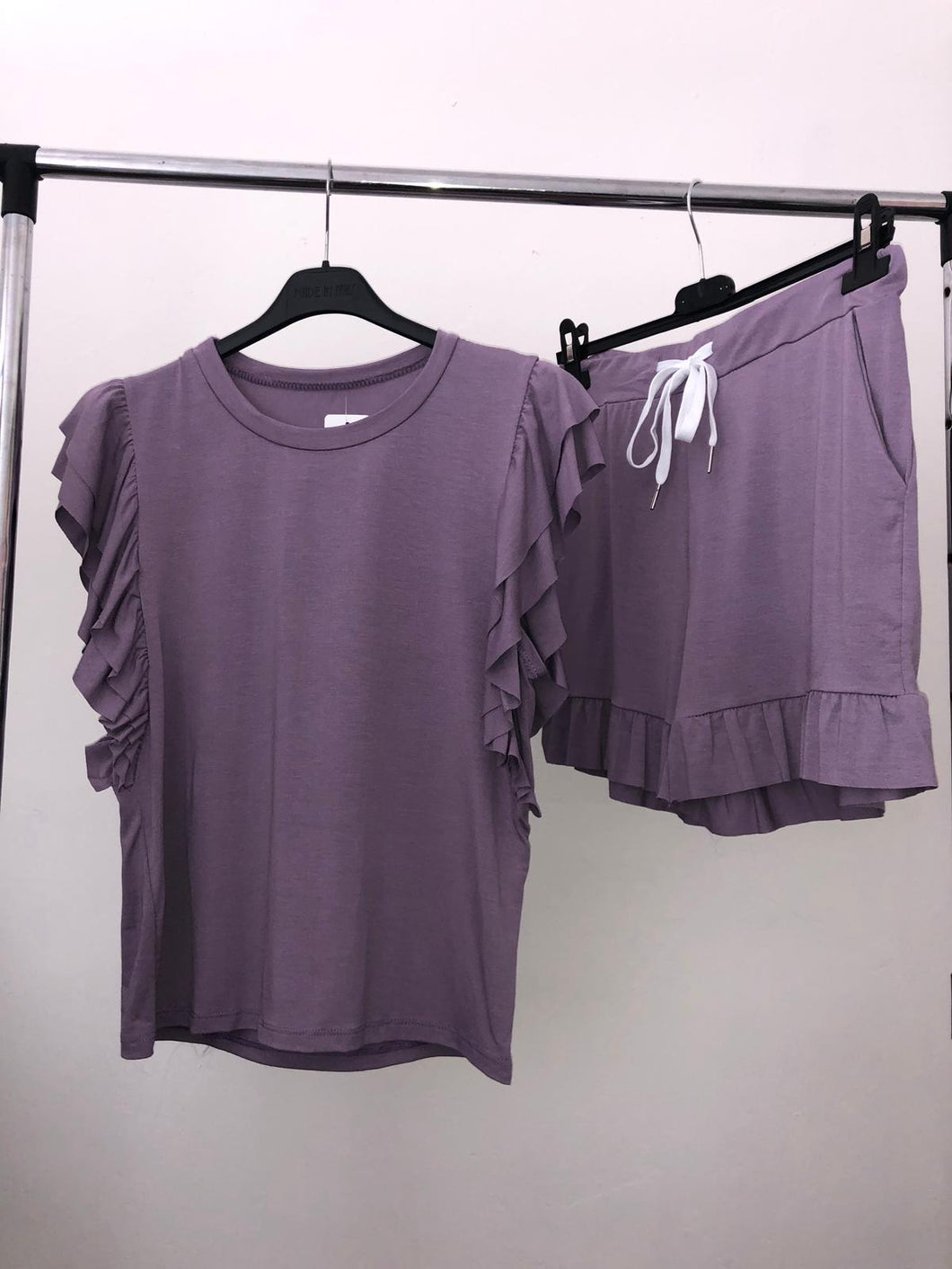 Cali Tshirt & Shorts Set - Purple
