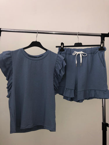 Cali Tshirt & Shorts Set - Blue