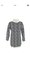 Load image into Gallery viewer, Patterned Roll Neck Jumper Dress