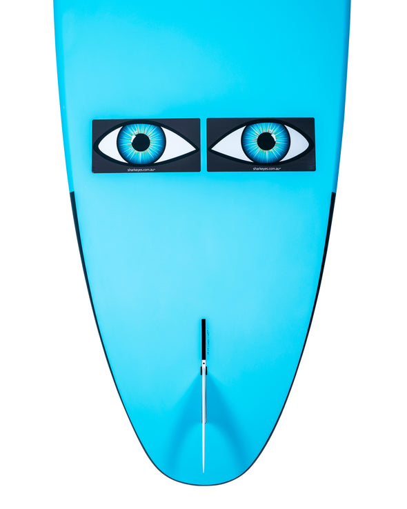 Shark-Eyes-shark-repellent-stickers-on-surfboard