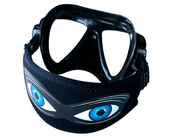 Shark Eyes Mask Strap Cover | Surf and Dive Shark Deterrent | Australia