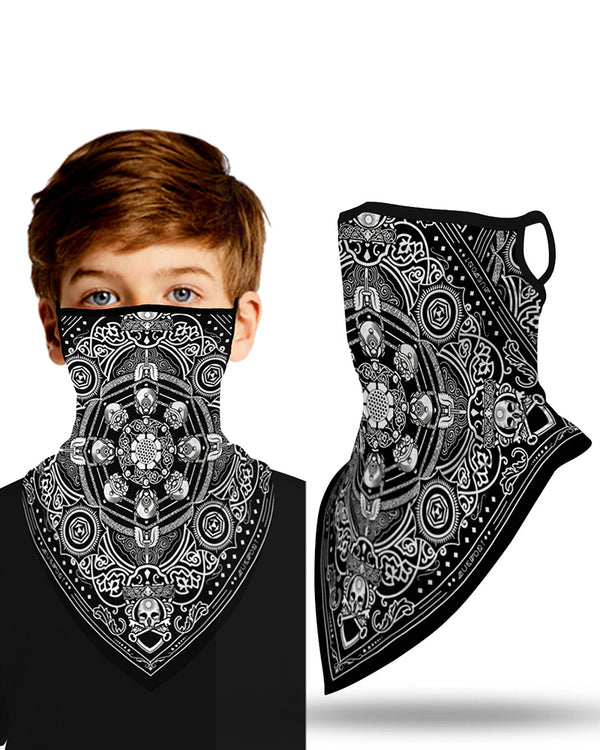 Print Breathable Ear Loop Face Cover Windproof Outdoors