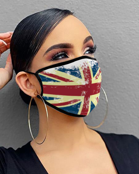 Flag / Animal / Letter / Lip Print Breathable Mouth Mask Washable And Reusable