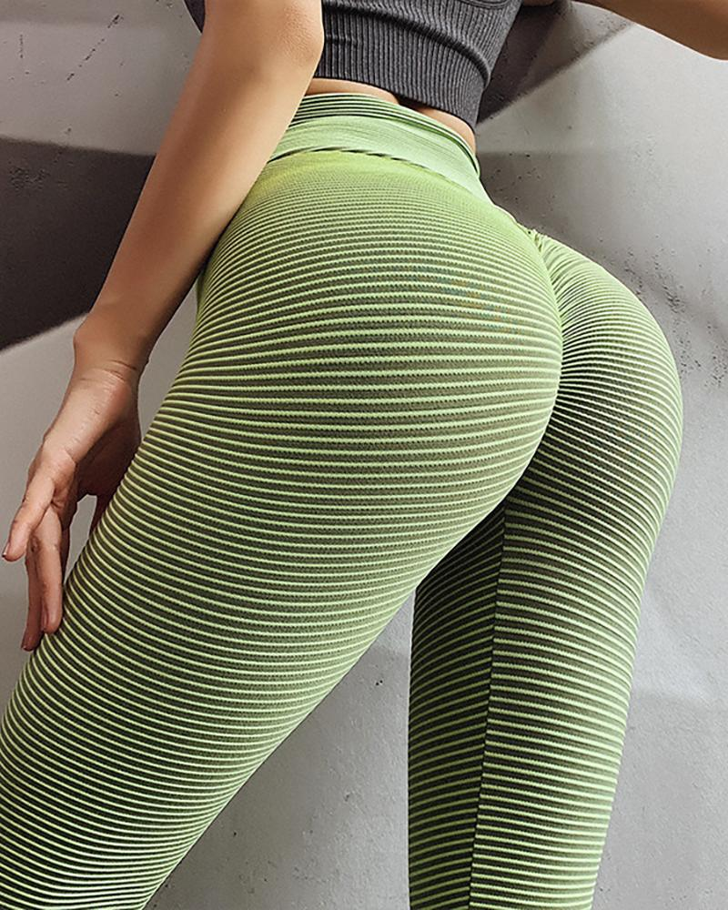 High Waist Solid Yoga Pants