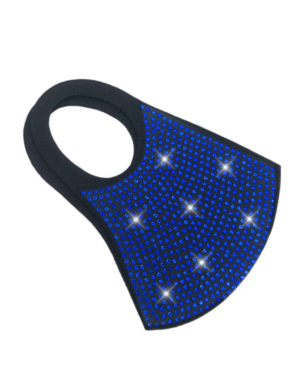 Studded Colorblock Ear Loop Breathable Mouth Mask Reusable