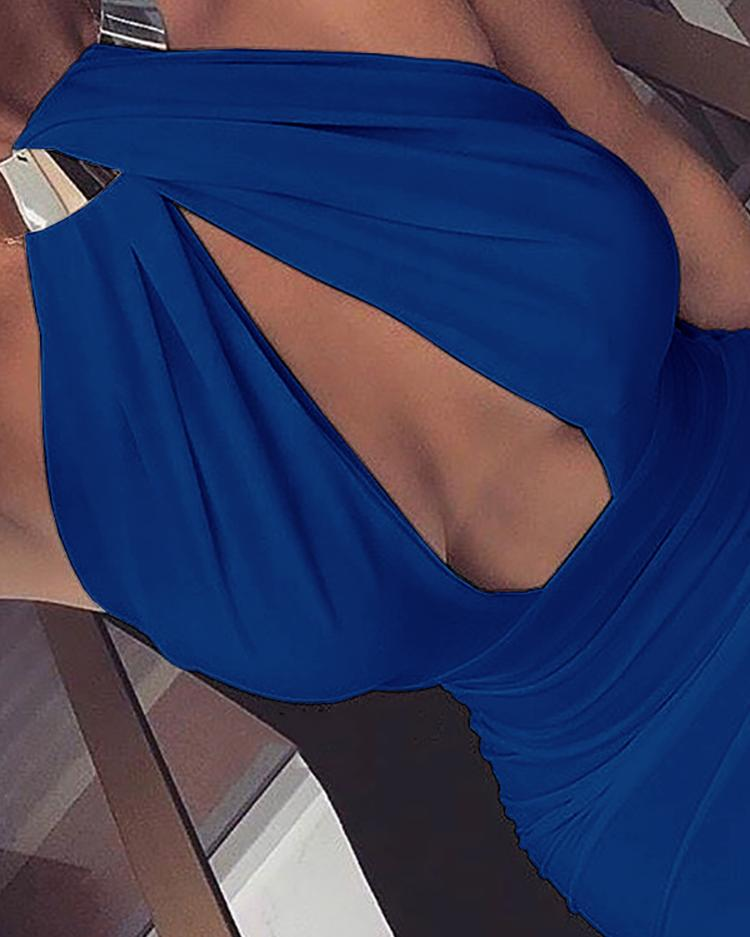 Halter Cutout Open Back Bodycon Dress