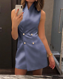 Double Breasted Mini Blazer Dress