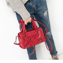 Load image into Gallery viewer, High Designer PU Leather European Style Luxury Motorcycle Bag for Women 2019 Style Chic Tassel Handbag Beautiful Crossbody Bags