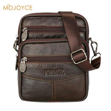 Load image into Gallery viewer, Mens Leather Small Messenger Bag Satchels Multifunctional Crossbody Shoulder Bag Genuine Leather Crossbody Bags Dropshipping