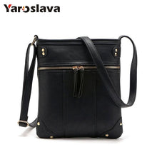 Load image into Gallery viewer, New sale bags for women vintage messenger bag double zipper PU leather handbag cross body bag casual shoulder bags LL44