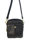 Remy Crossbody - Black Snake