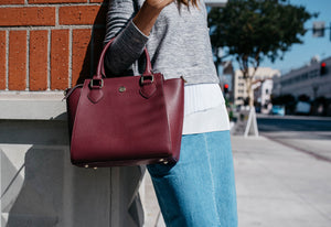 Brooke Satchel - Maroon