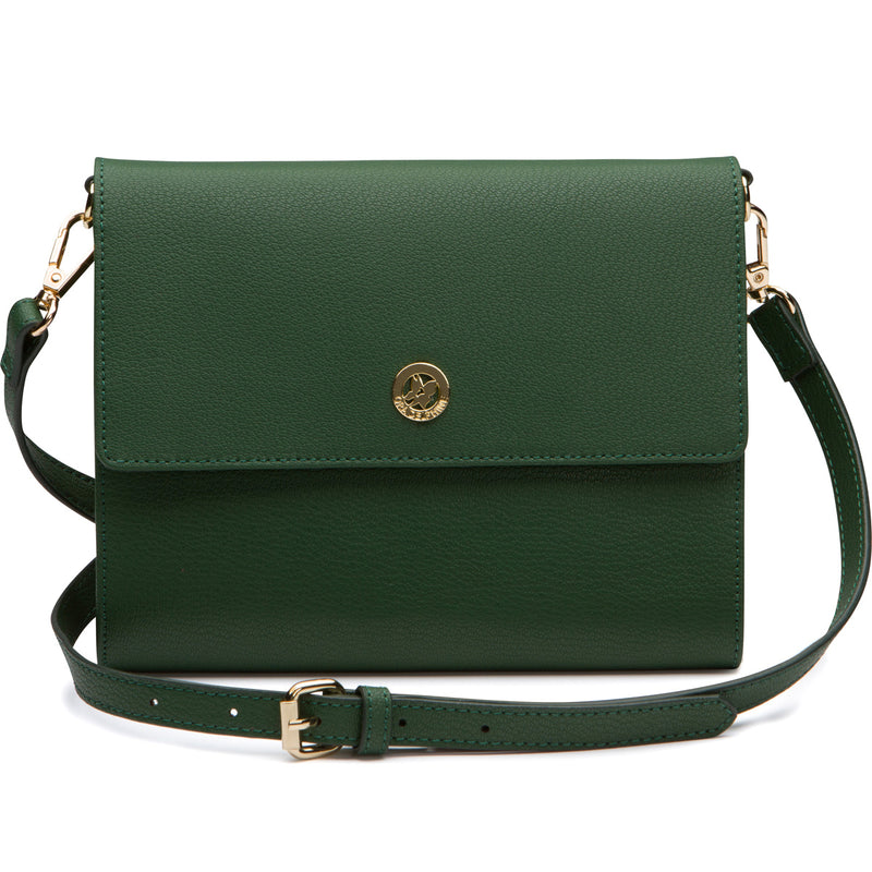 Edie Envelope Crossbody - Emerald