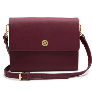 Edie Envelope Crossbody - Maroon