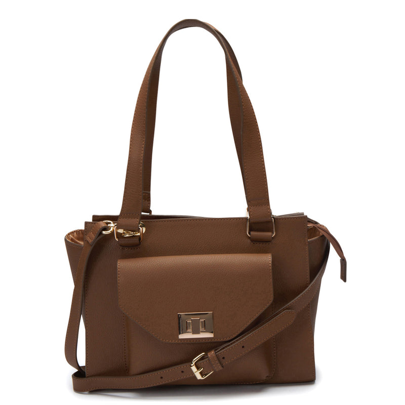 Margot Turn Lock Satchel - Willow