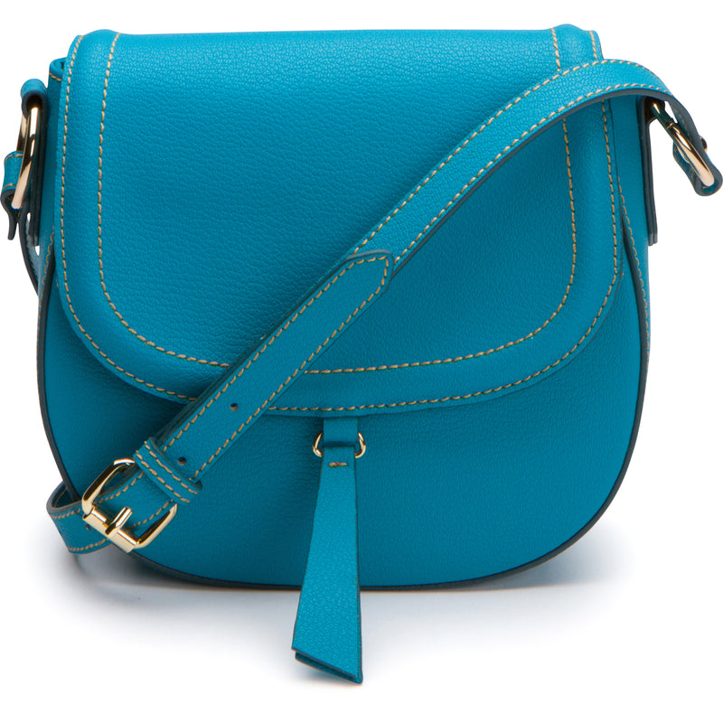 Phoebe Saddle Crossbody - Capri Blue