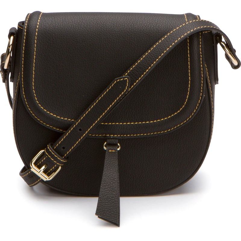 Phoebe Saddle Crossbody - Black