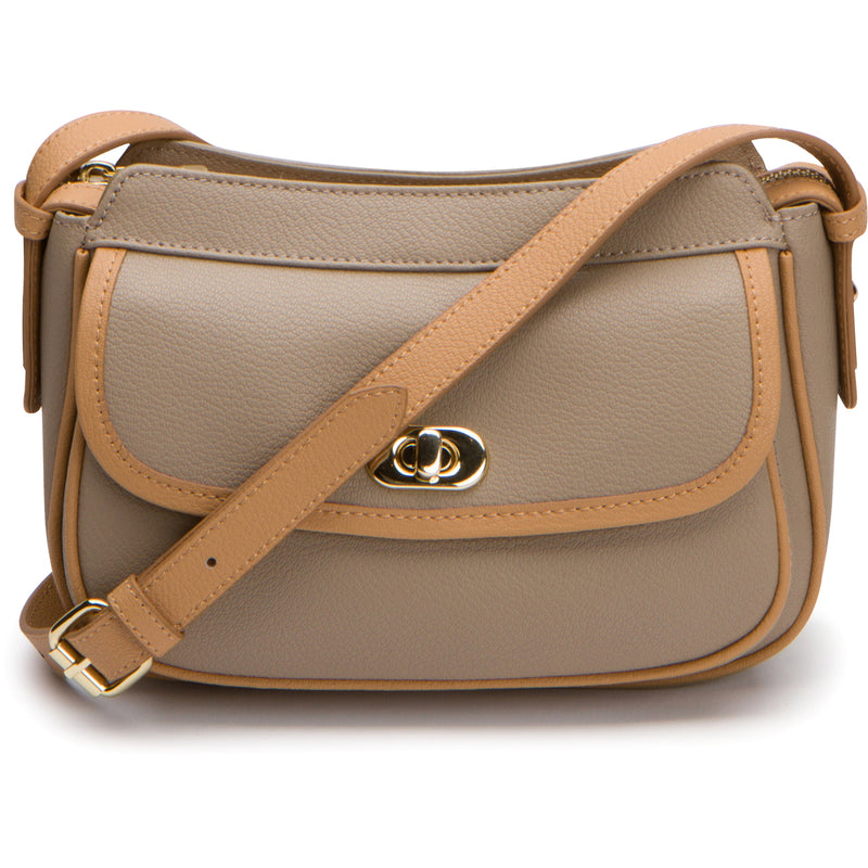 June Crossbody - Khaki Tan