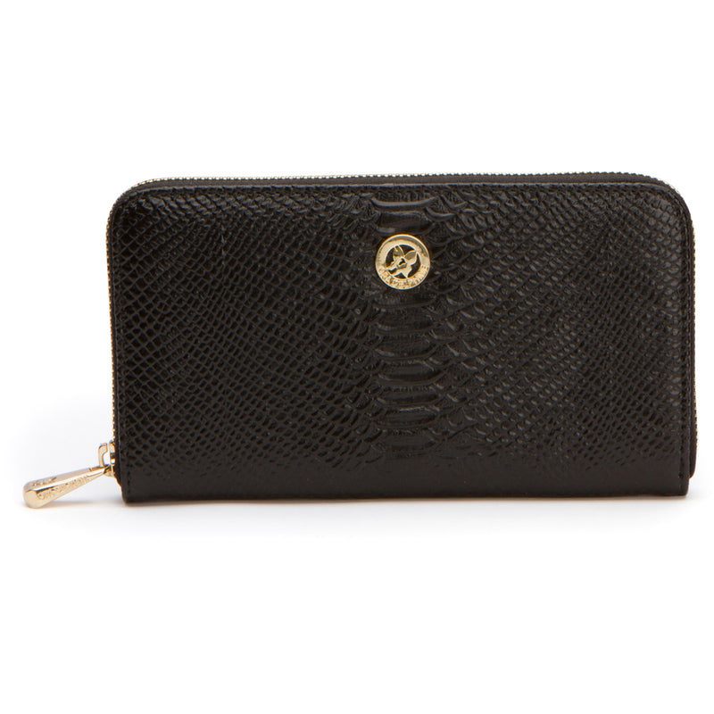 Lila Wallet - Black Snake