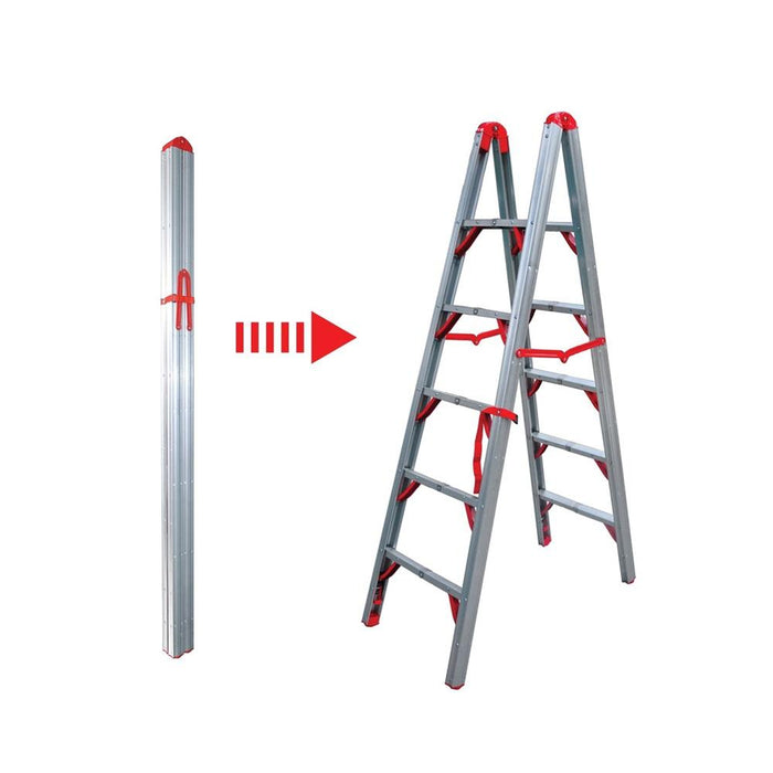 6FT Double Sided Folding Step Ladder - WIDOS Asia