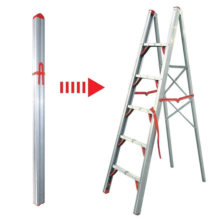 6FT Single Sided Folding Step Ladder - WIDOS Asia