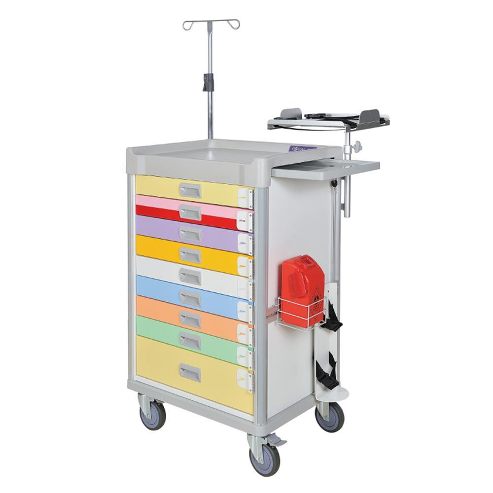 "MX Pediatric Emergency Cart 37"" (Color Coded) - WIDOS Asia"