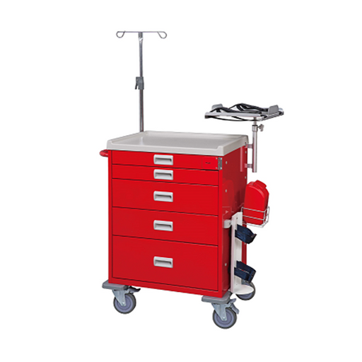"SCT Emergency Cart 34"" (Red) - WIDOS Asia"