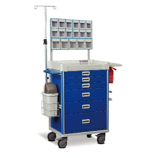 "MX Anesthesia Cart 37"" (Blue) - WIDOS Asia"