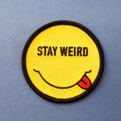 Smiley Stay Weird Patches
